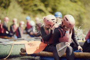Teens take part in raft racing as part of NCS programme