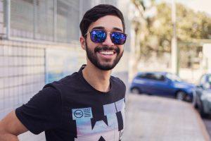 man with beard, smiling