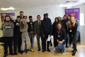 The Prince's Trust Dartford team with MP Gareth Johnson