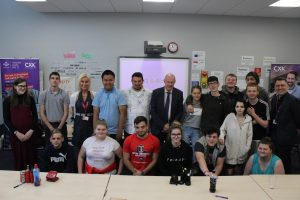 Damian Green MP with group of young people