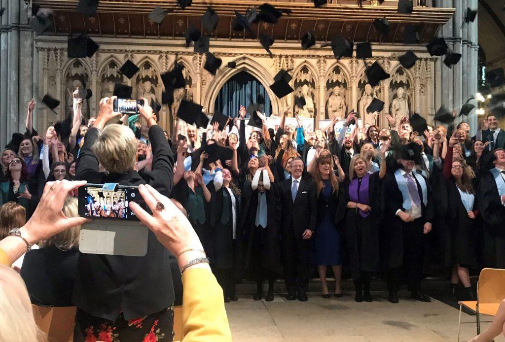 apprentices celebrate at graduation ceremony